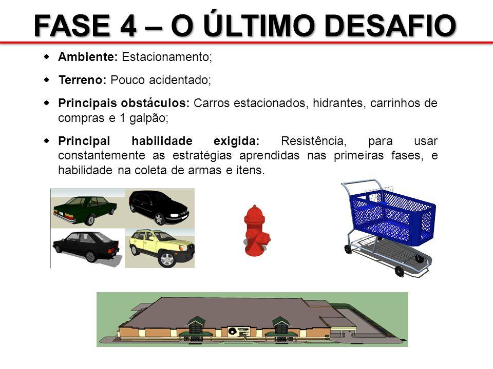 FASE 4 – O ÚLTIMO DESAFIO Ambiente: Estacionamento;
