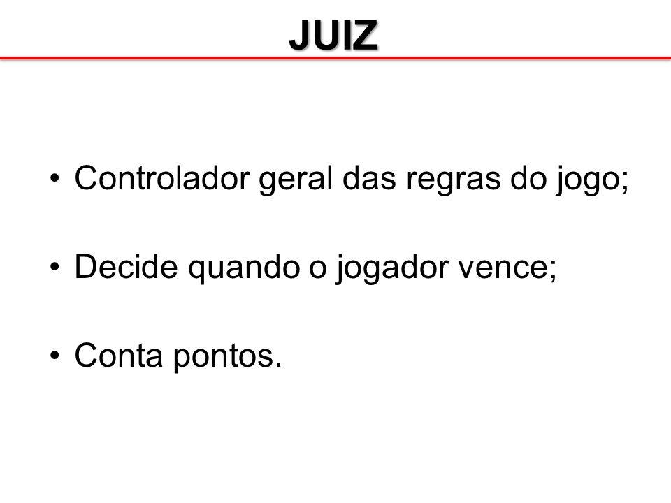 JUIZ Controlador geral das regras do jogo;