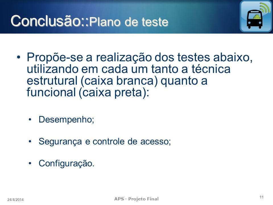 Conclusão::Plano de teste