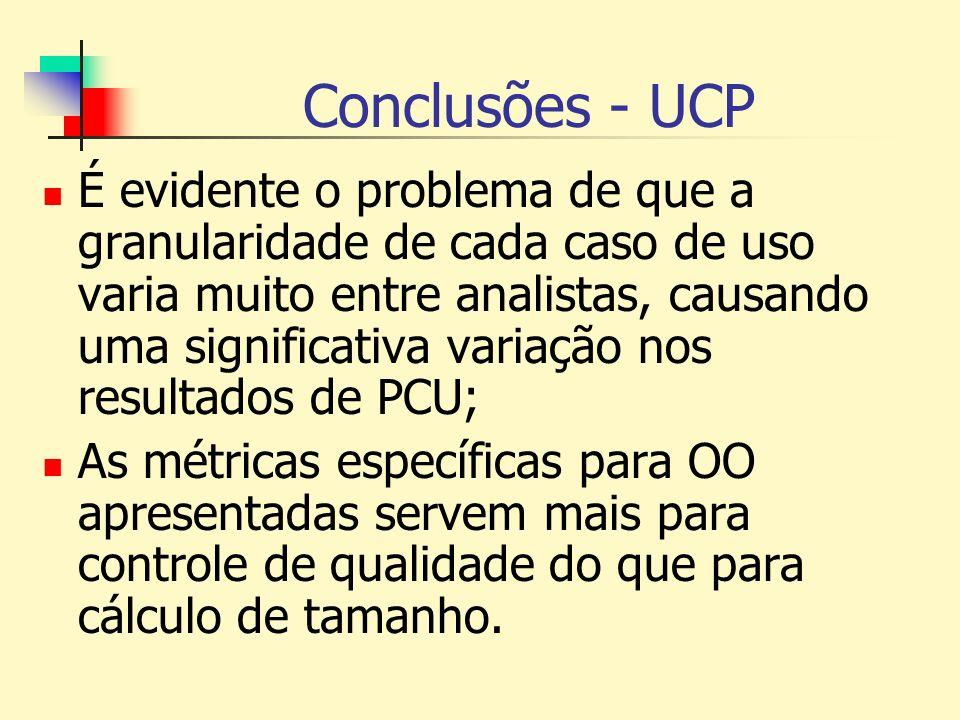 Conclusões - UCP