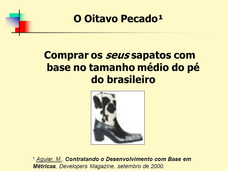 Comprar os seus sapatos com base no tamanho médio do pé do brasileiro
