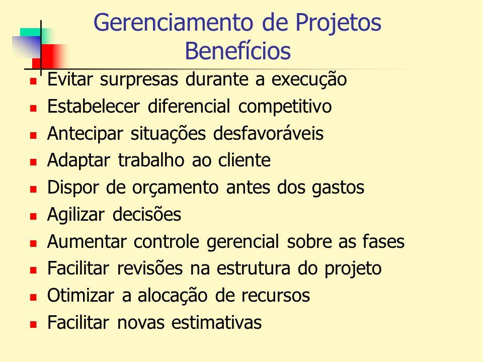 Gerenciamento de Projetos Benefícios