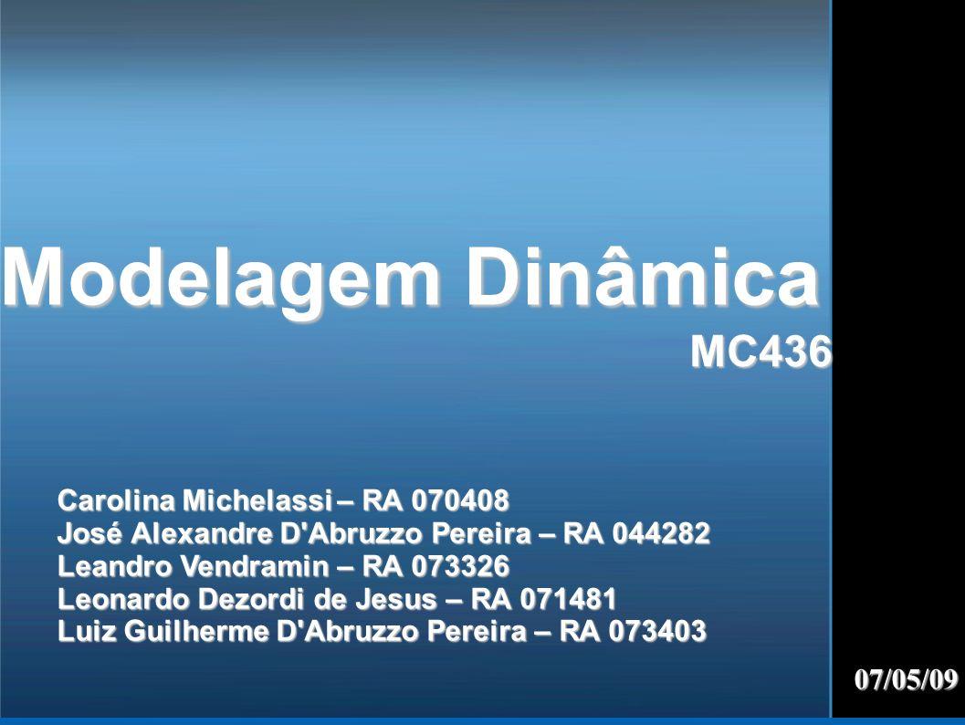 Modelagem Dinâmica MC436 Carolina Michelassi – RA 070408