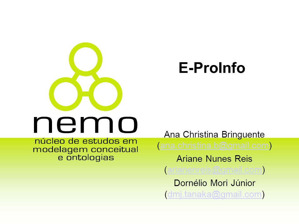 E-ProInfo Ana Christina Bringuente (ana.christina.b@gmail.com)
