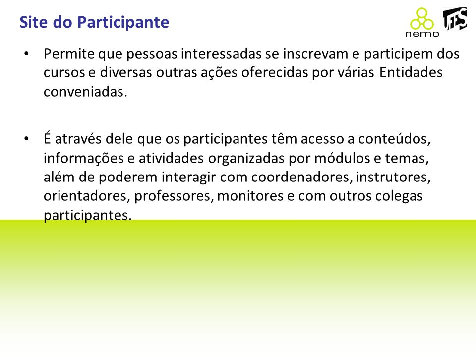 Site do Participante