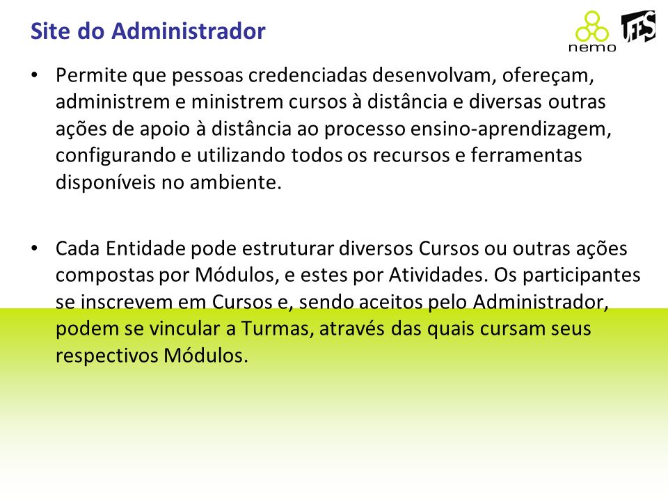 Site do Administrador