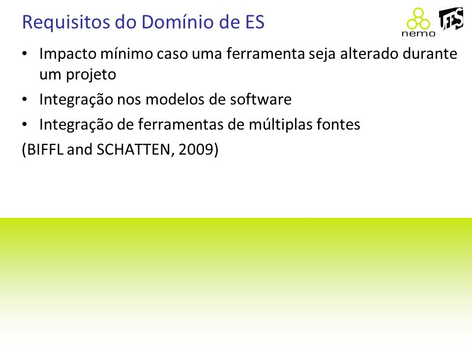 Requisitos do Domínio de ES