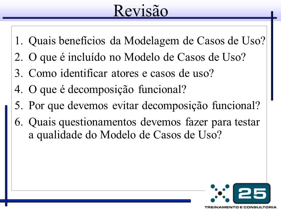 Revisão Quais benefícios da Modelagem de Casos de Uso