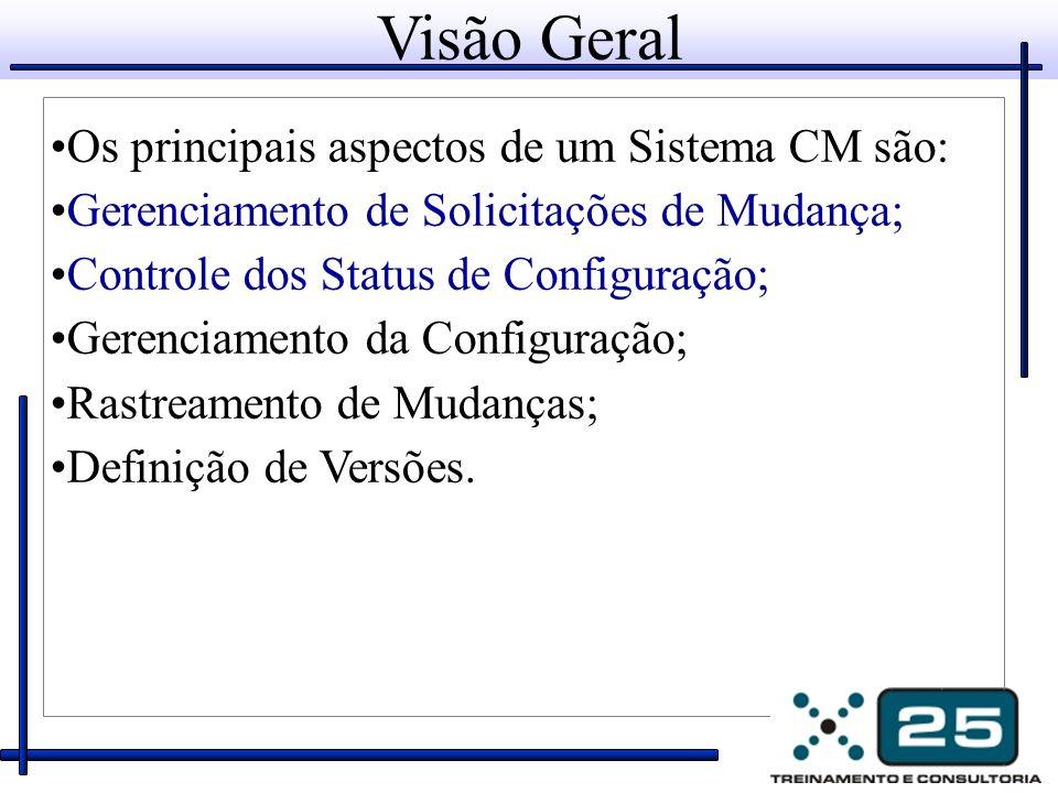 Visão Geral Os principais aspectos de um Sistema CM são:
