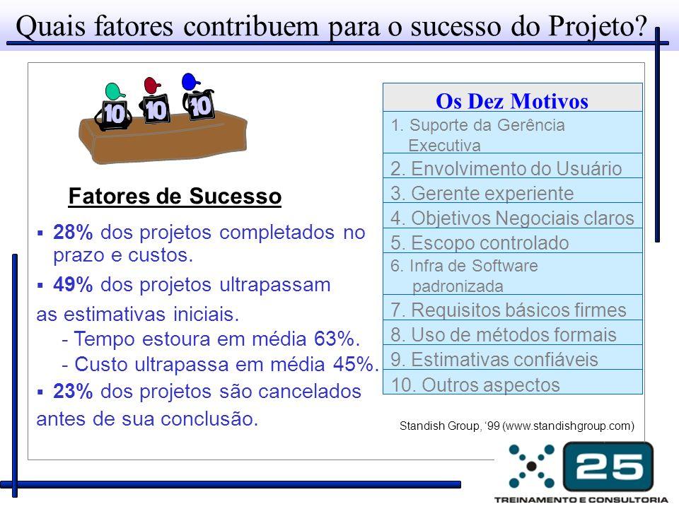 Quais fatores contribuem para o sucesso do Projeto