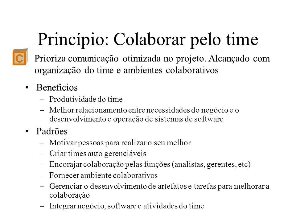 Princípio: Colaborar pelo time