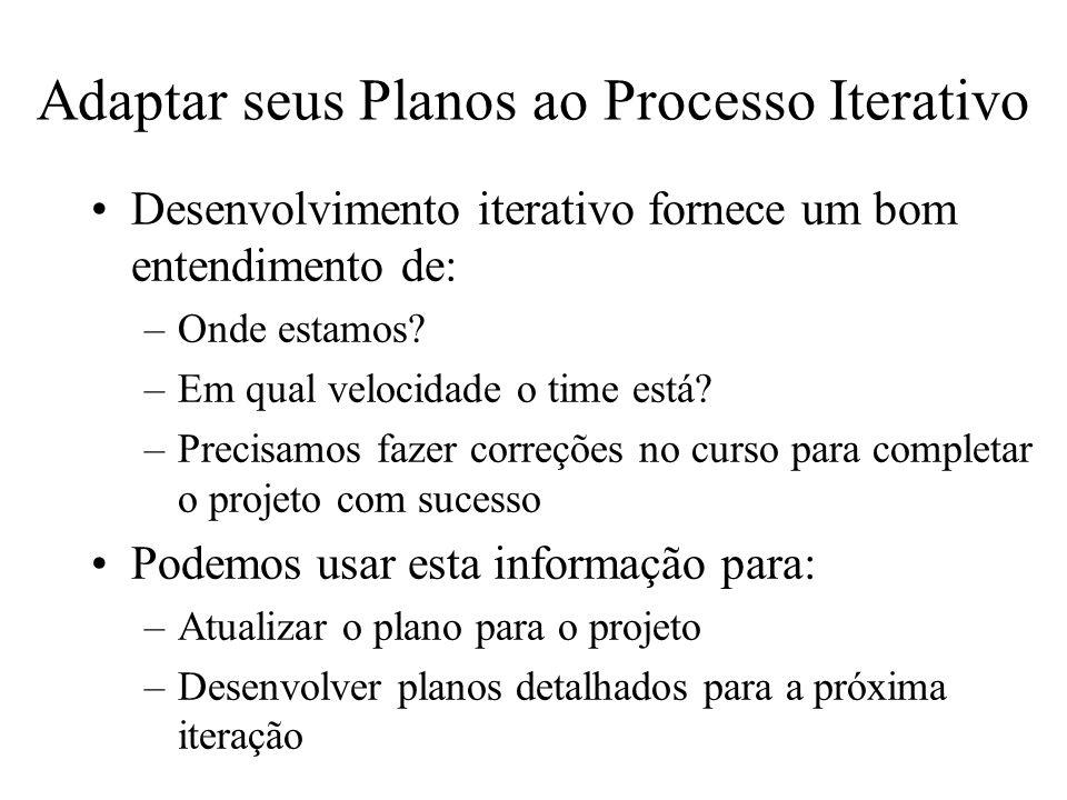 Adaptar seus Planos ao Processo Iterativo