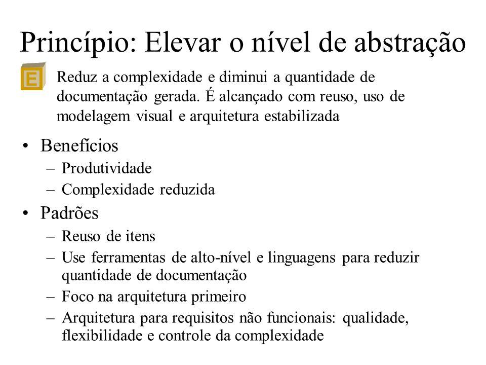 Princípio: Elevar o nível de abstração