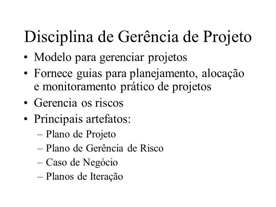 Disciplina de Gerência de Projeto