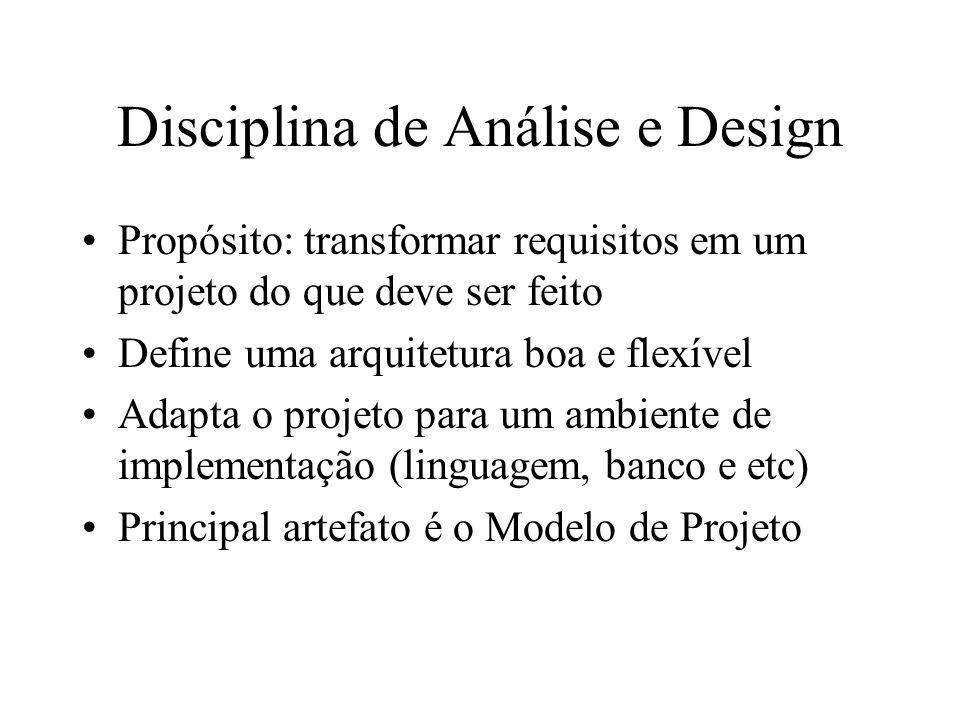 Disciplina de Análise e Design