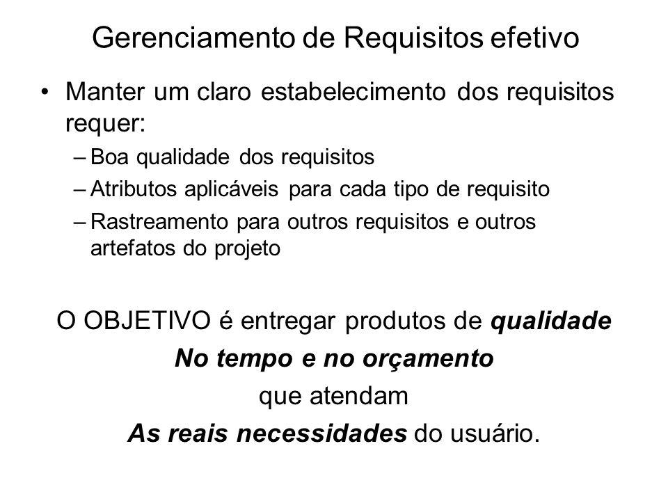 Gerenciamento de Requisitos efetivo