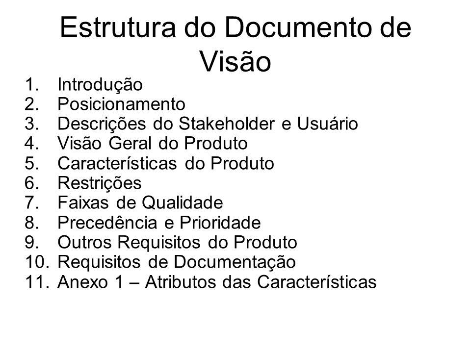 Estrutura do Documento de Visão