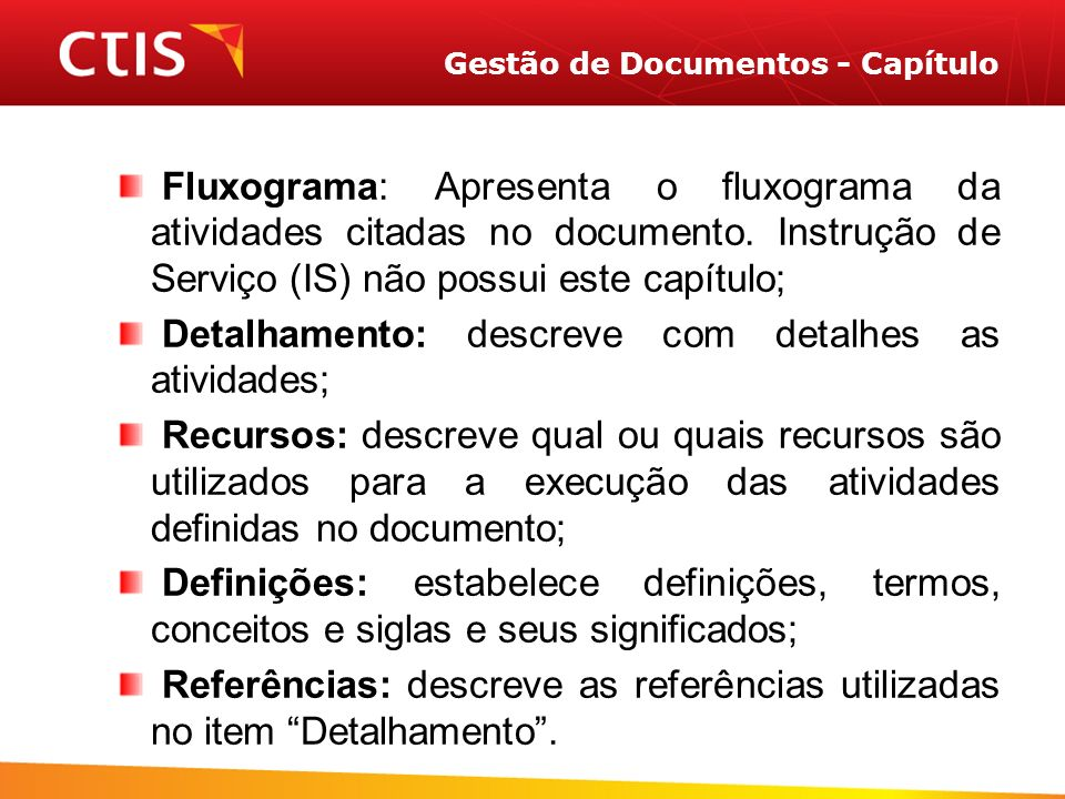 Gestão de Documentos - Capítulo