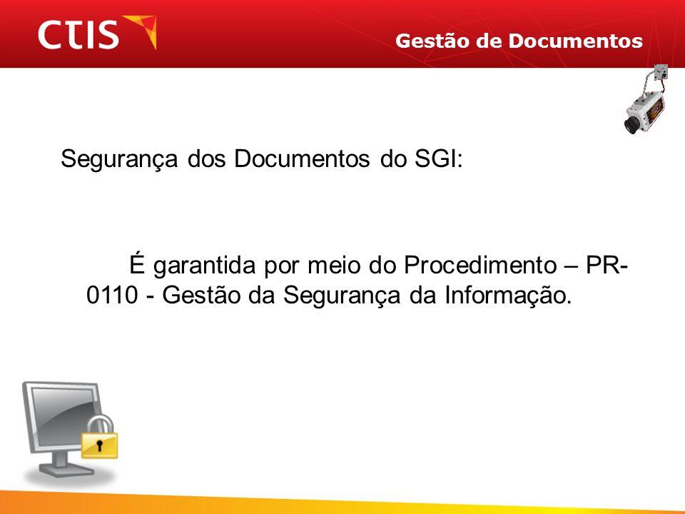 Segurança dos Documentos do SGI: