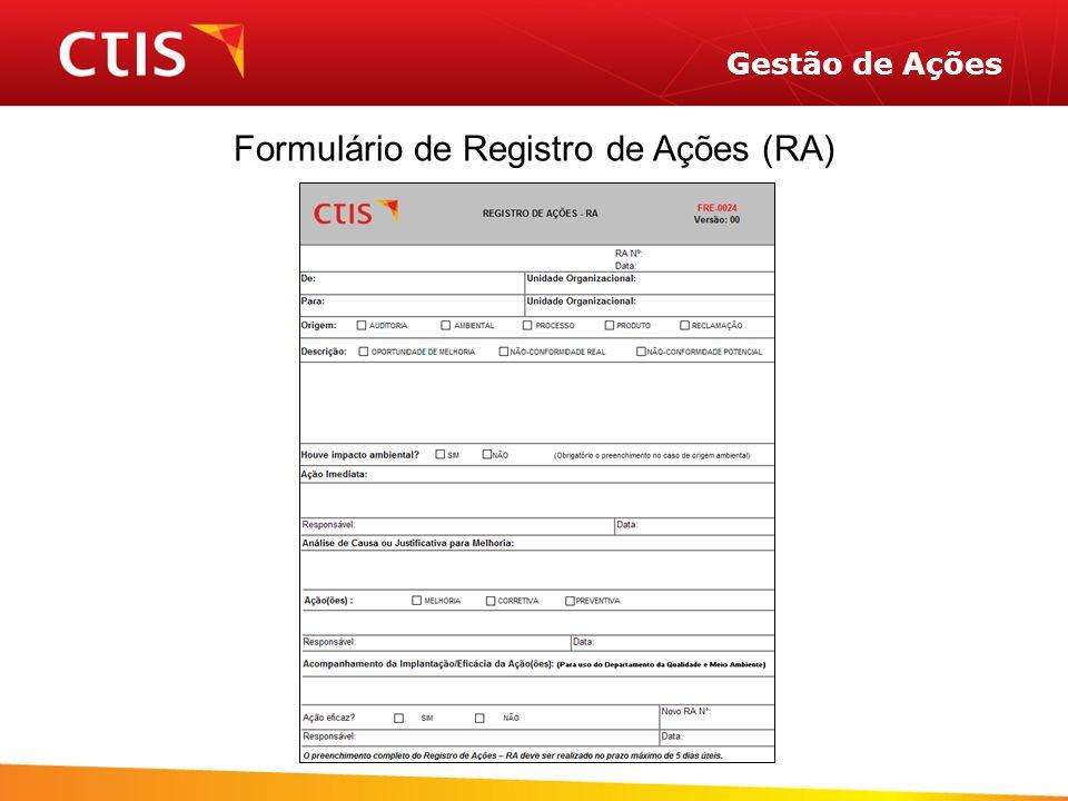 Formulário de Registro de Ações (RA)