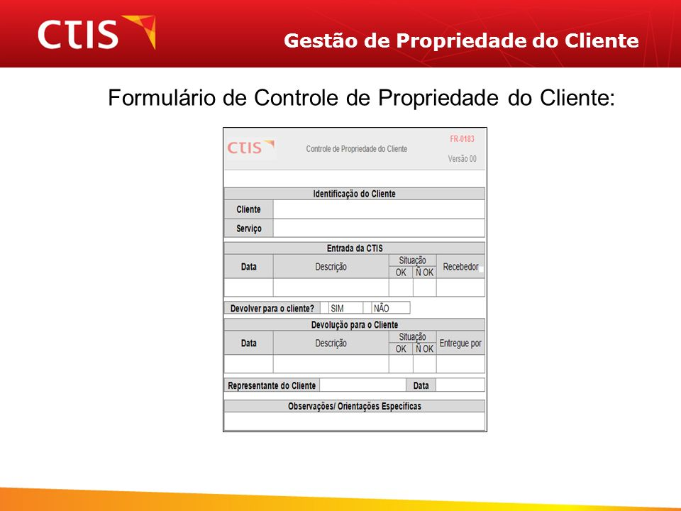 Gestão de Propriedade do Cliente
