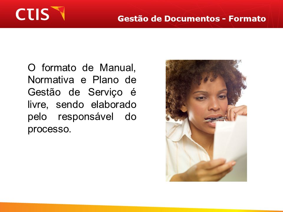 Gestão de Documentos - Formato