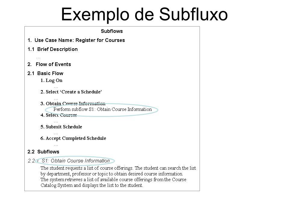 Exemplo de Subfluxo