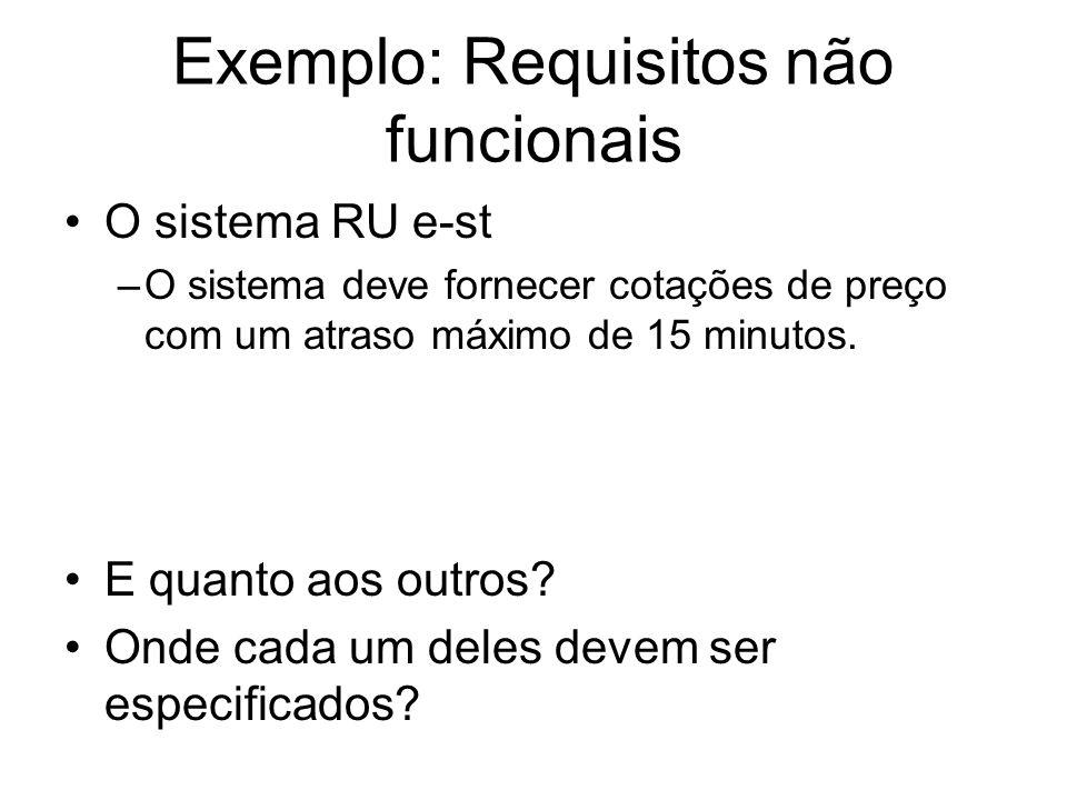 Exemplo: Requisitos não funcionais