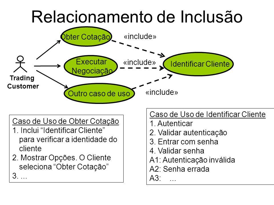 Relacionamento de Inclusão