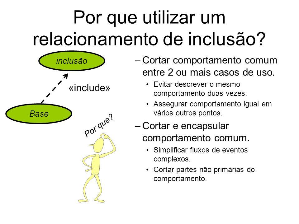 Por que utilizar um relacionamento de inclusão