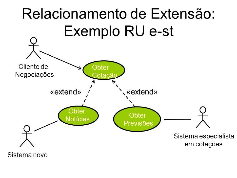Relacionamento de Extensão: Exemplo RU e-st