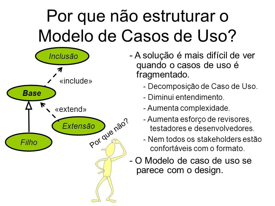 Por que não estruturar o Modelo de Casos de Uso