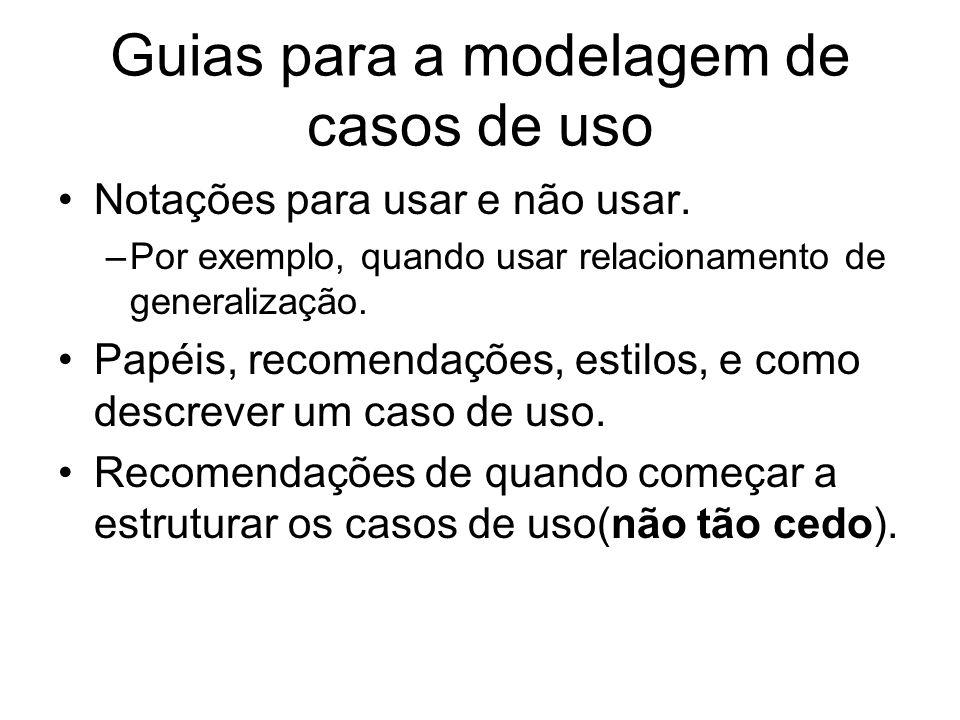 Guias para a modelagem de casos de uso