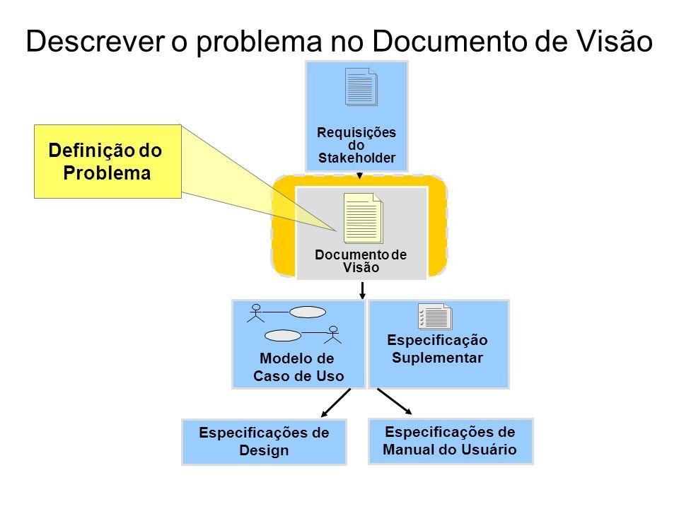 Descrever o problema no Documento de Visão