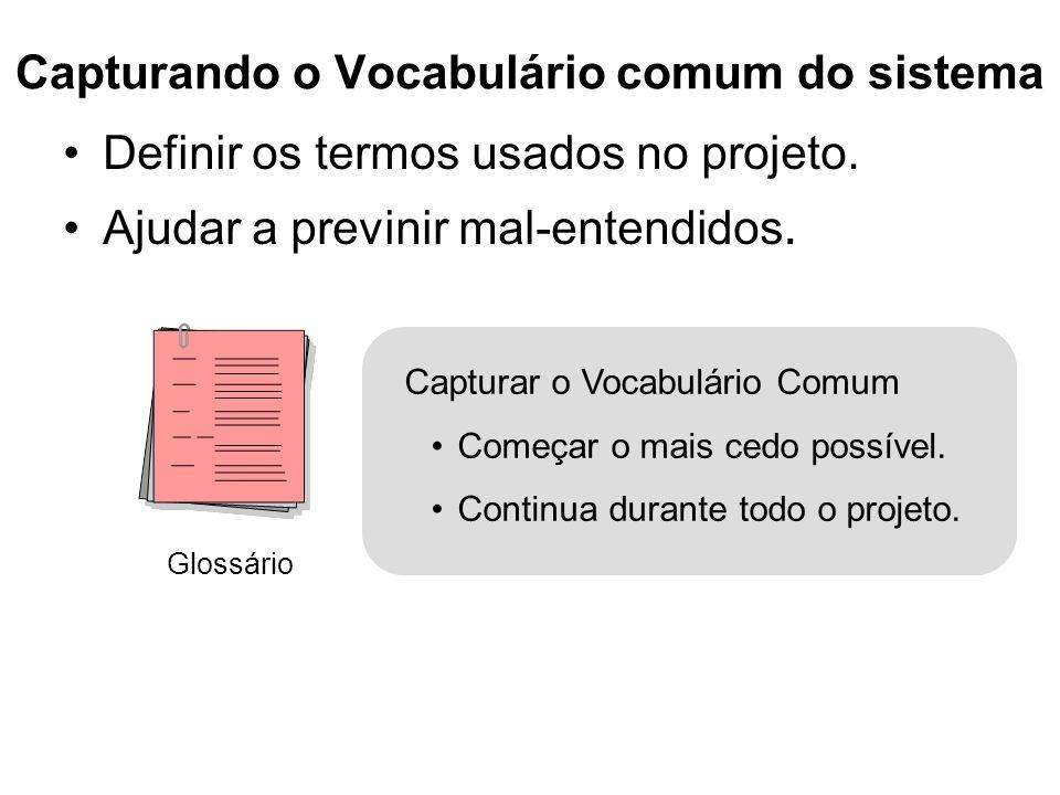 Capturando o Vocabulário comum do sistema