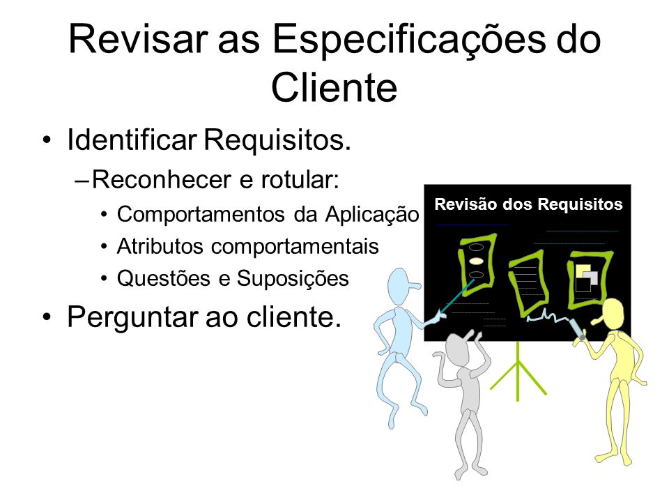 Revisar as Especificações do Cliente