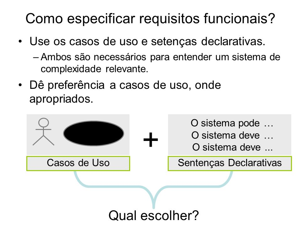 Como especificar requisitos funcionais