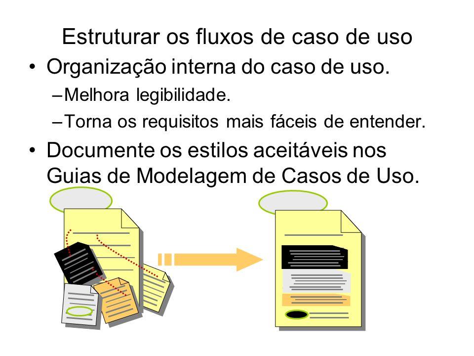 Estruturar os fluxos de caso de uso