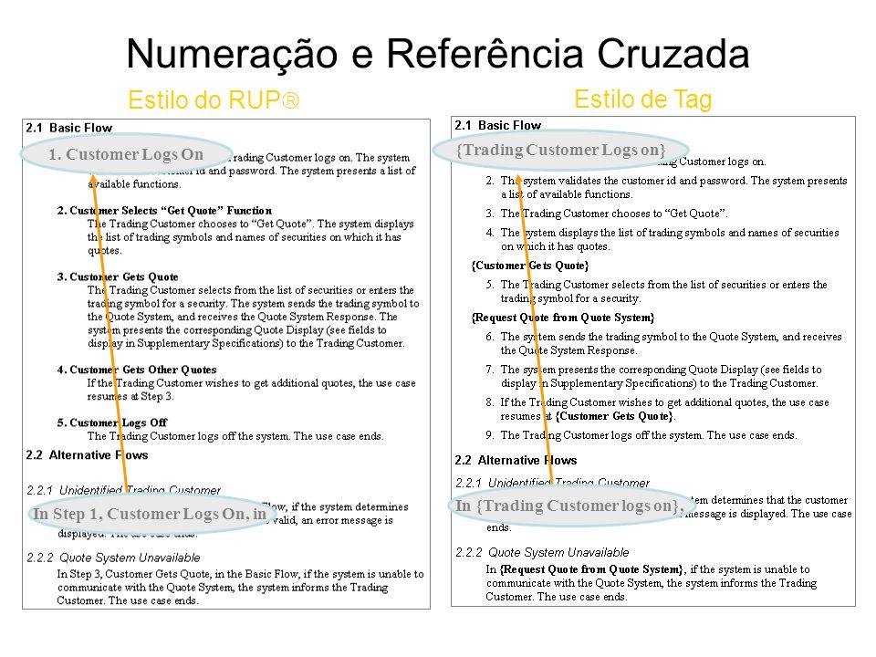 Numeração e Referência Cruzada