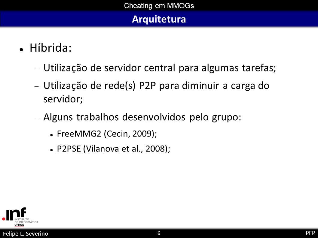 ArquiteturaHíbrida: Utilização de servidor central para algumas tarefas; Utilização de rede(s) P2P para diminuir a carga do servidor;