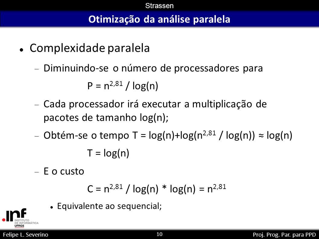 Otimização da análise paralela
