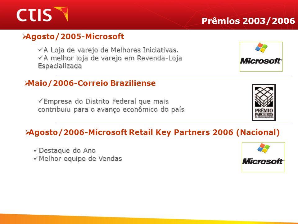 Prêmios 2003/2006 Agosto/2005-Microsoft Maio/2006-Correio Braziliense