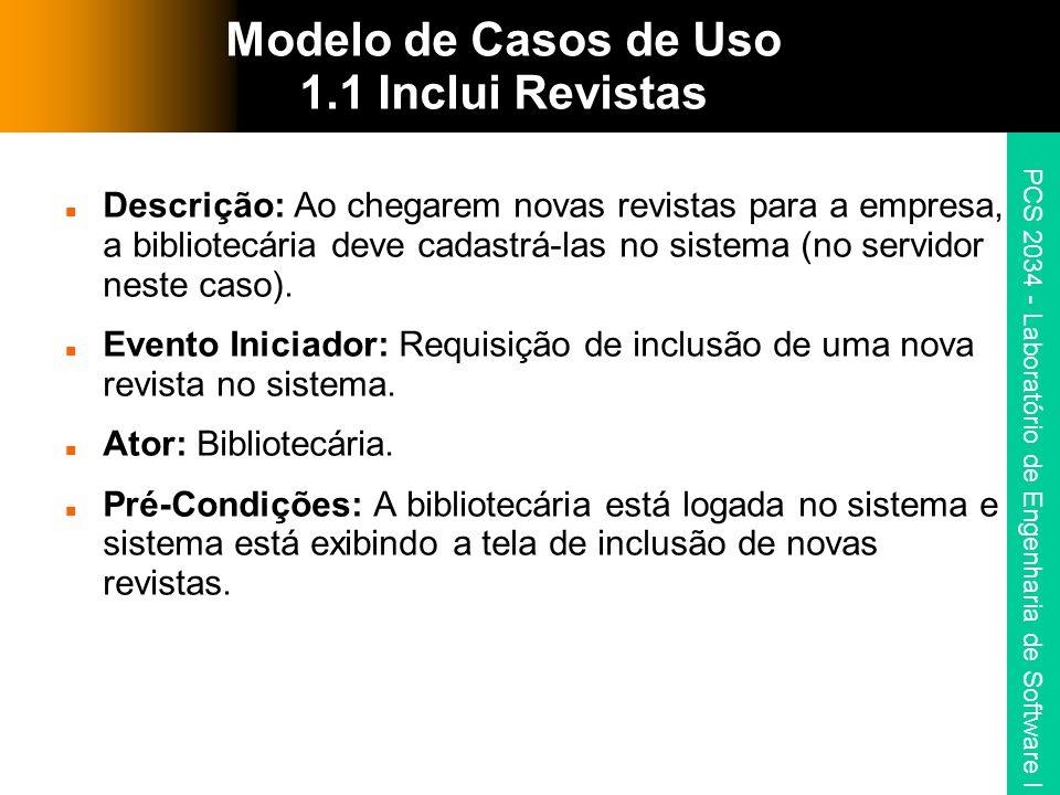 Modelo de Casos de Uso 1.1 Inclui Revistas