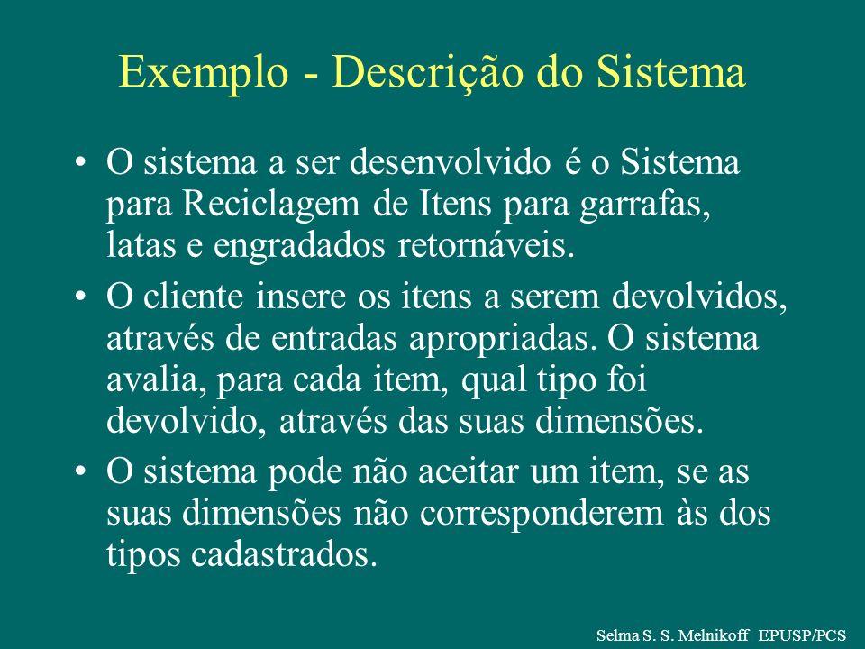 Exemplo - Descrição do Sistema
