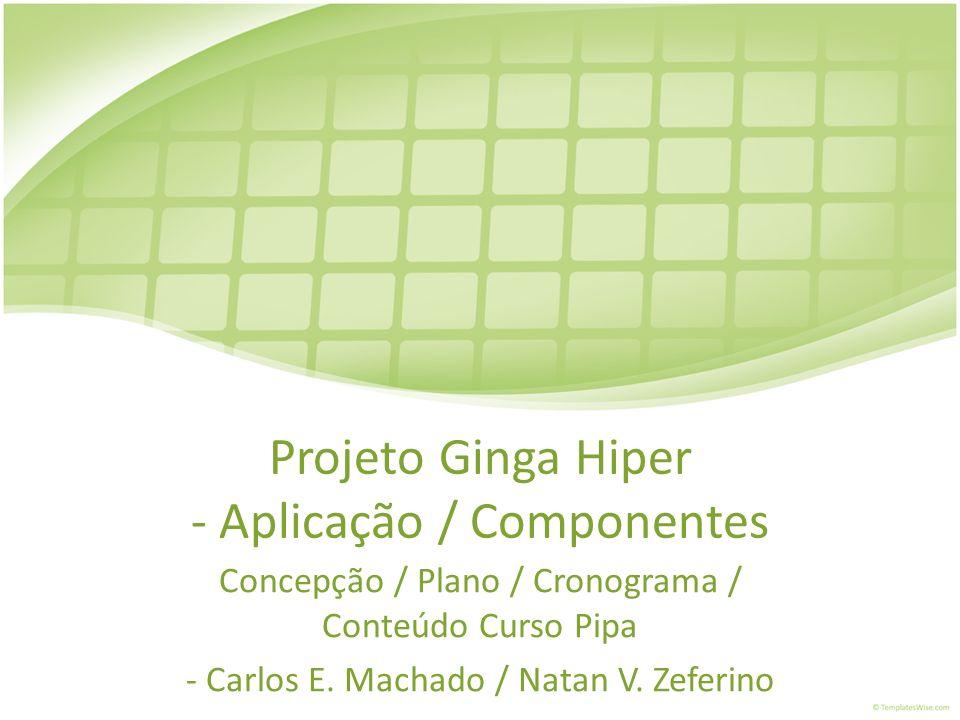 Projeto Ginga Hiper - Aplicação / Componentes
