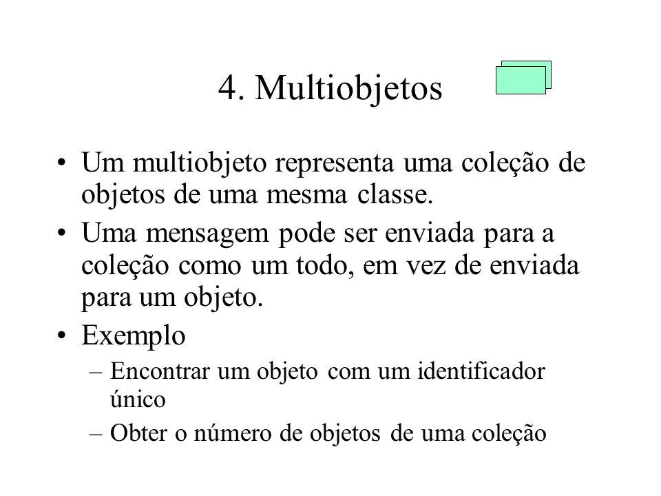 4. Multiobjetos Um multiobjeto representa uma coleção de objetos de uma mesma classe.
