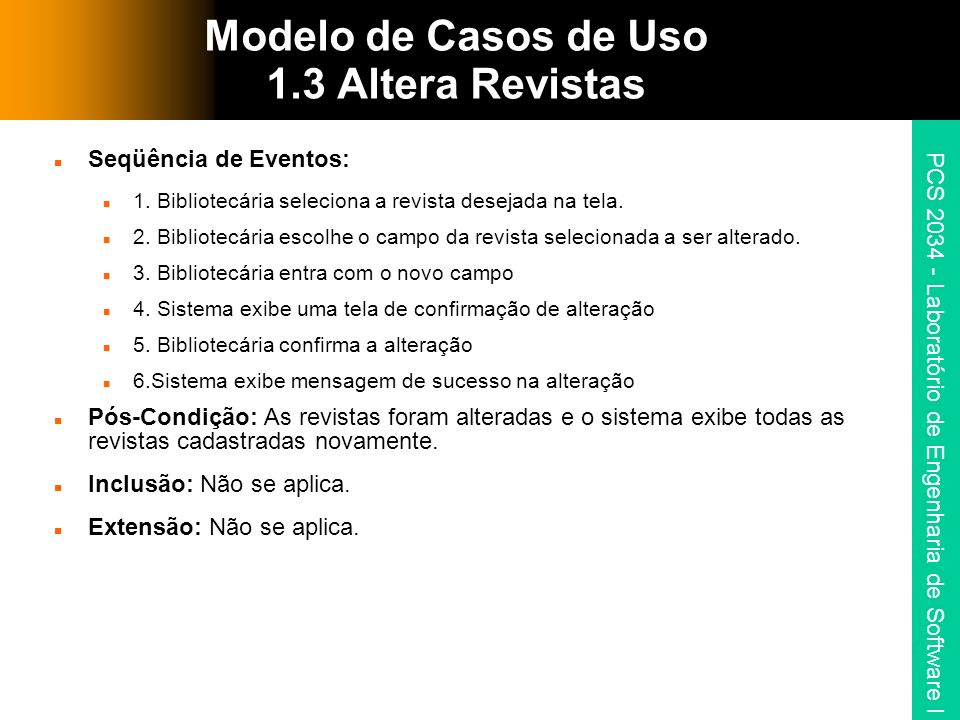 Modelo de Casos de Uso 1.3 Altera Revistas