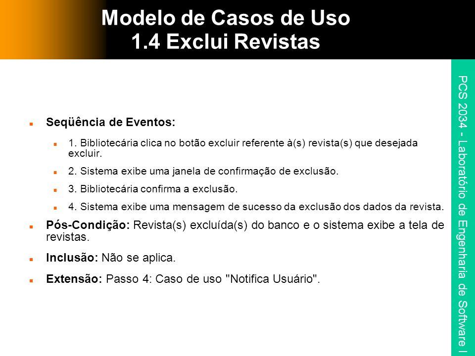 Modelo de Casos de Uso 1.4 Exclui Revistas