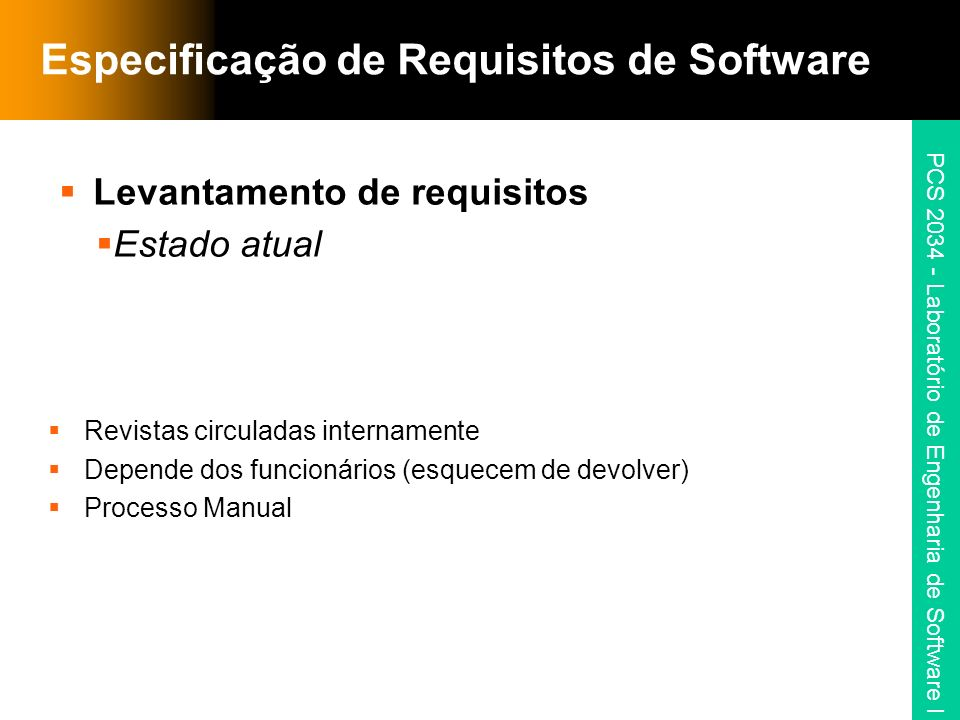 Especificação de Requisitos de Software