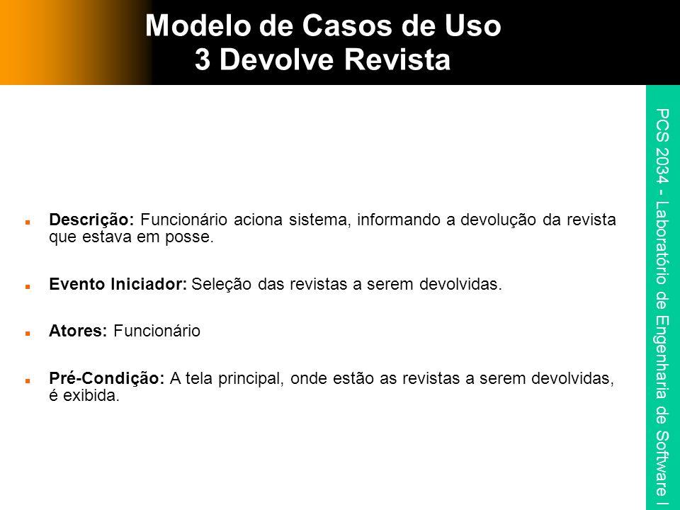 Modelo de Casos de Uso 3 Devolve Revista
